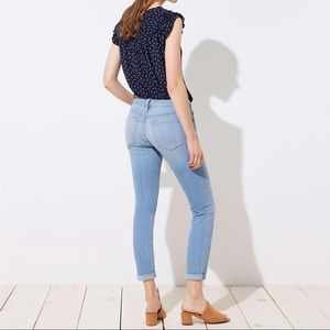 The Loft Curvy Skinny Crop Jeans
